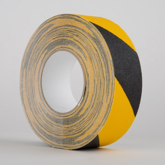 SAFETY TAPE 50MM X 18M B/Y